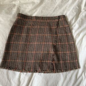 Urban Outfitters Plaid Wrap Skirt